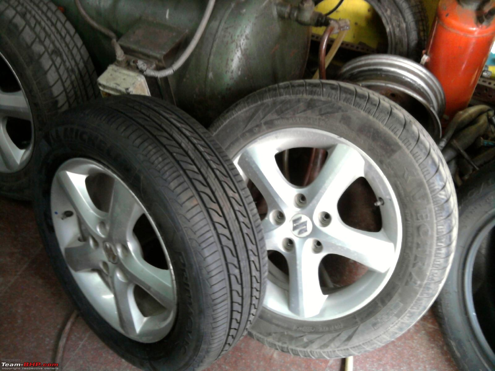 Suzuki Tire Size >> Maruti Suzuki Sx4 Tyre Wheel Upgrade Thread Page 9 Team Bhp