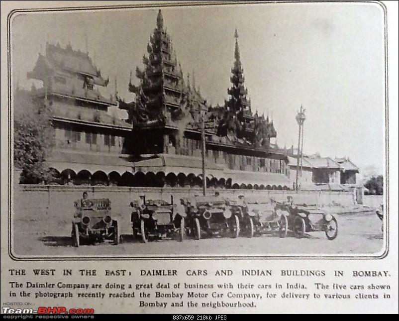 Dealerships, Coachbuilders, Vehicle Assembly in India-bombay-daimler-fleet-iln-apr-29-1911.jpg