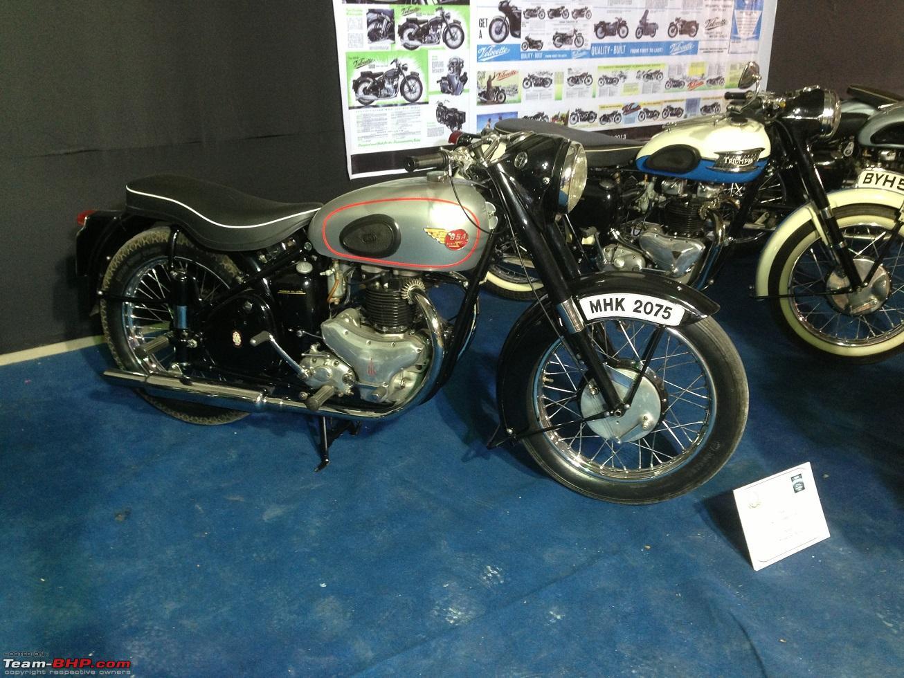 Vintage bike display at india superbike festival pune bsa02 jpg
