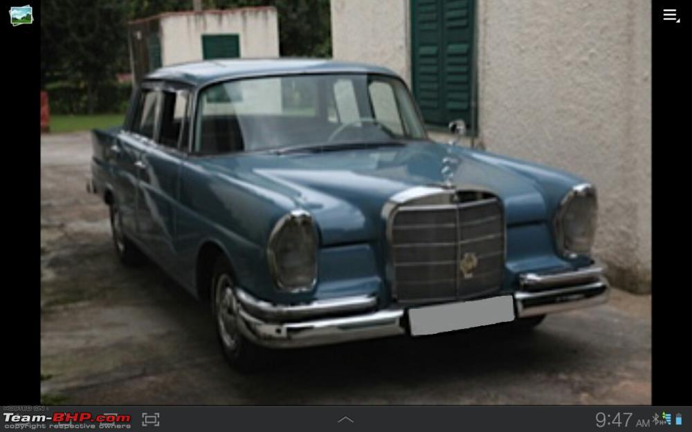 Vintage & Classic Mercedes Benz Cars in India - Page 111 - Team-BHP