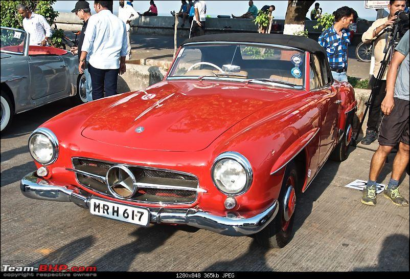 PICS: Mercedes-Benz Classic Car Parade in Mumbai. November 9, 2014-red190sl1.jpg