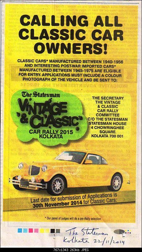 The Statesman Vintage & Classic Car Rally, Kolkata - January 2015-home18.11.2014.jpg