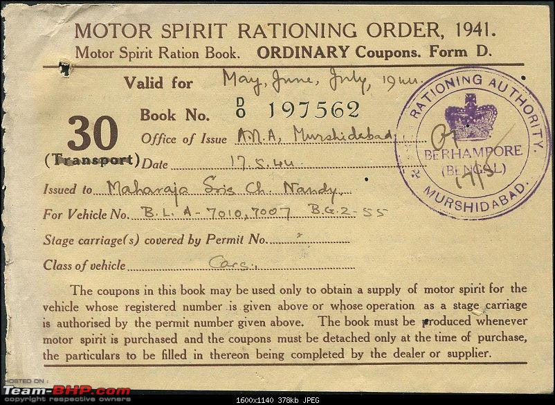 Early registration numbers in India-india-petrol-ration-card-1941-pic3.jpg