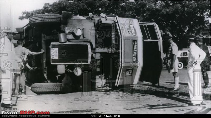 Nostalgic automotive pictures including our family's cars-bombay-double-decker-bms4704-accident-1955-tbhp.jpg