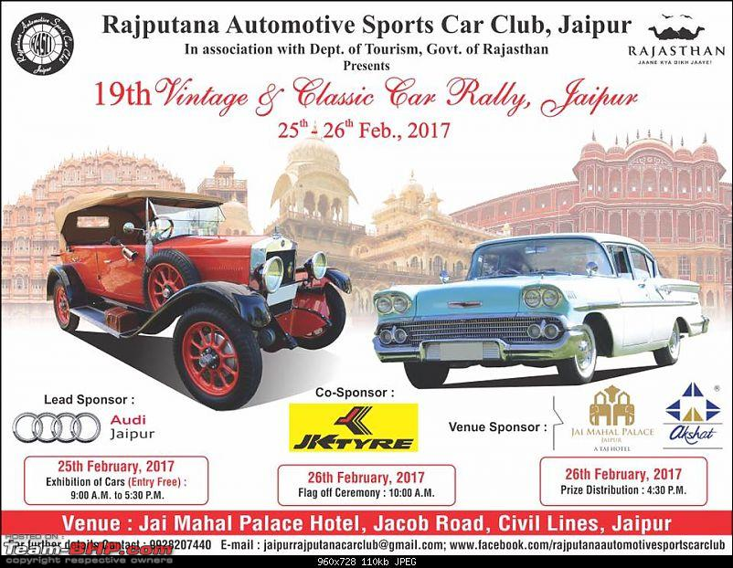 Jaipur\'s 19th Vintage & Classic Car Rally - 25th & 26th February ...