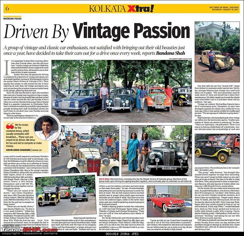 Drives & Meetups: Classic Car owners of Calcutta-paperarticle.jpg