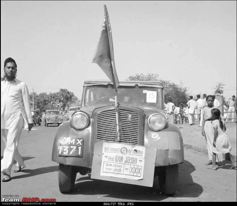 Nostalgic automotive pictures including our family's cars-1952.-car-advertising-ram-joshi-candidate-municipal-general-election.jpg