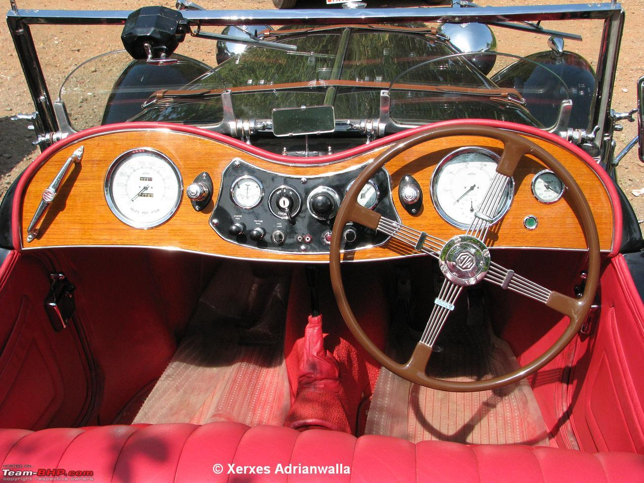 yashruia's MG TC interior