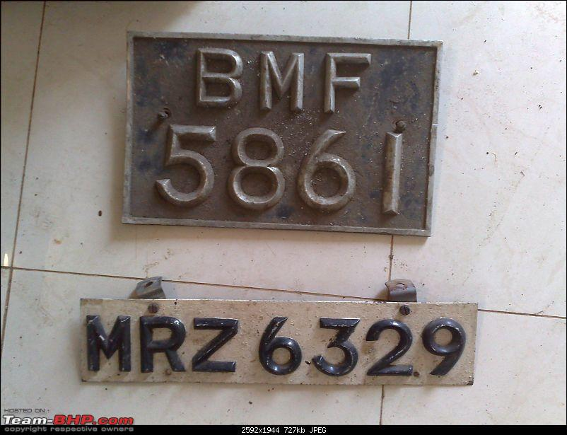 Early registration numbers in India-plates.jpg