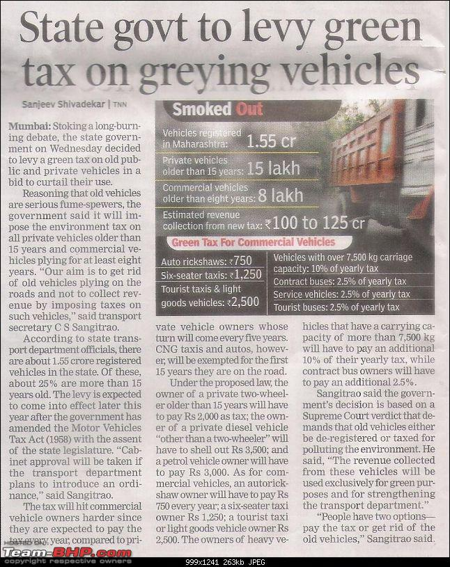 Govt planning to phase out 20 yr old PRIVATE cars - 25.06.09, Mumbai TOI, pg 3-picture-002.jpg