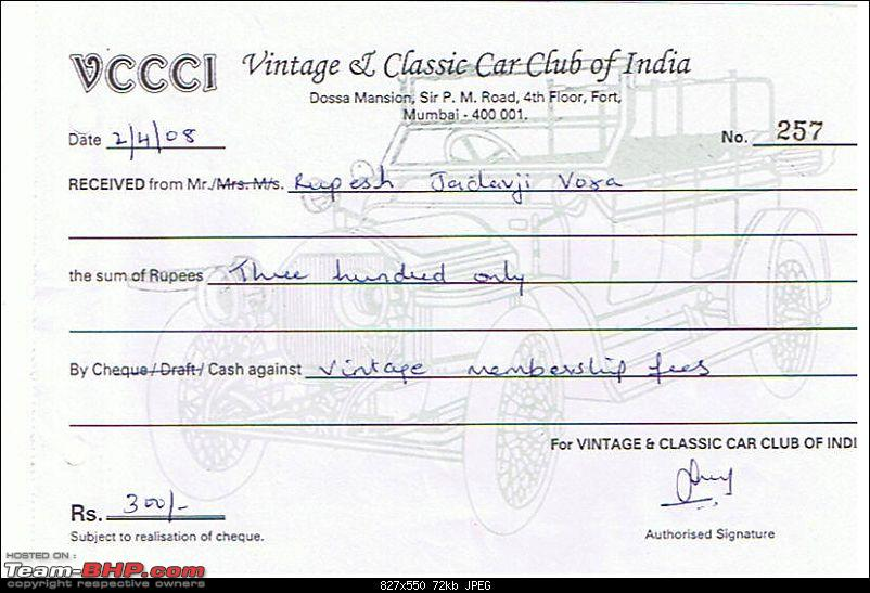 """Fiat Classic Car Club - Mumbai-vccci.jpg <br /> When I received this from VCCCI, I was very happy but then after a week I received a call and some madam told me that """"Fiat's are not allowed in the club."""" I was heart at that time. When you have published the information on the website, then how can you contradict the same? Why don't they write on the website the same information?</div>   <div style="""