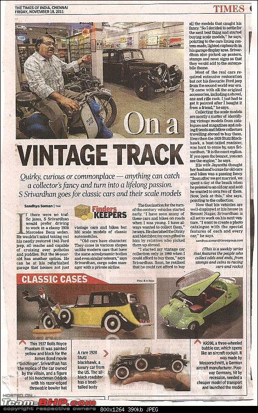 My Garage Display featured in the TOI-toi-18nov11-r.jpg