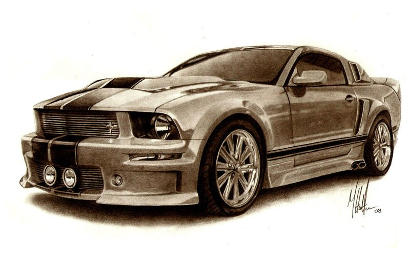 Muscle Car Sketches Auto Art Page 6 Team Bhp