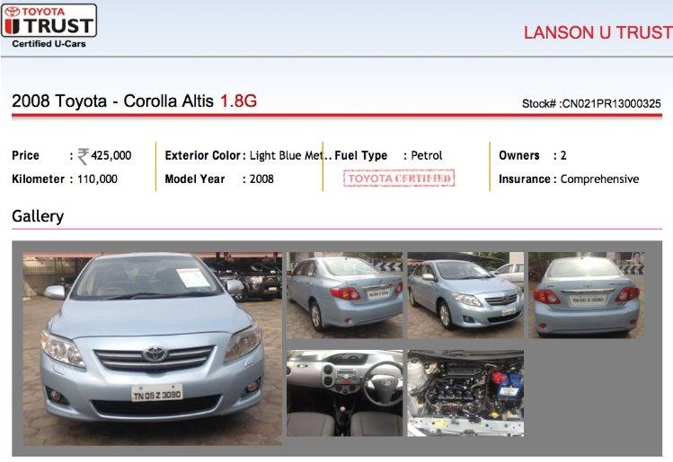 Lanson Toyota Car Price In Chennai