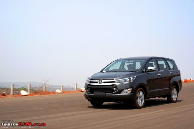 Toyota innova crysta official review team bhp a look at the cutaway that was on display at the auto expo gives a proper view feel of the cabin observe how much higher the rear seat is placed fandeluxe Gallery