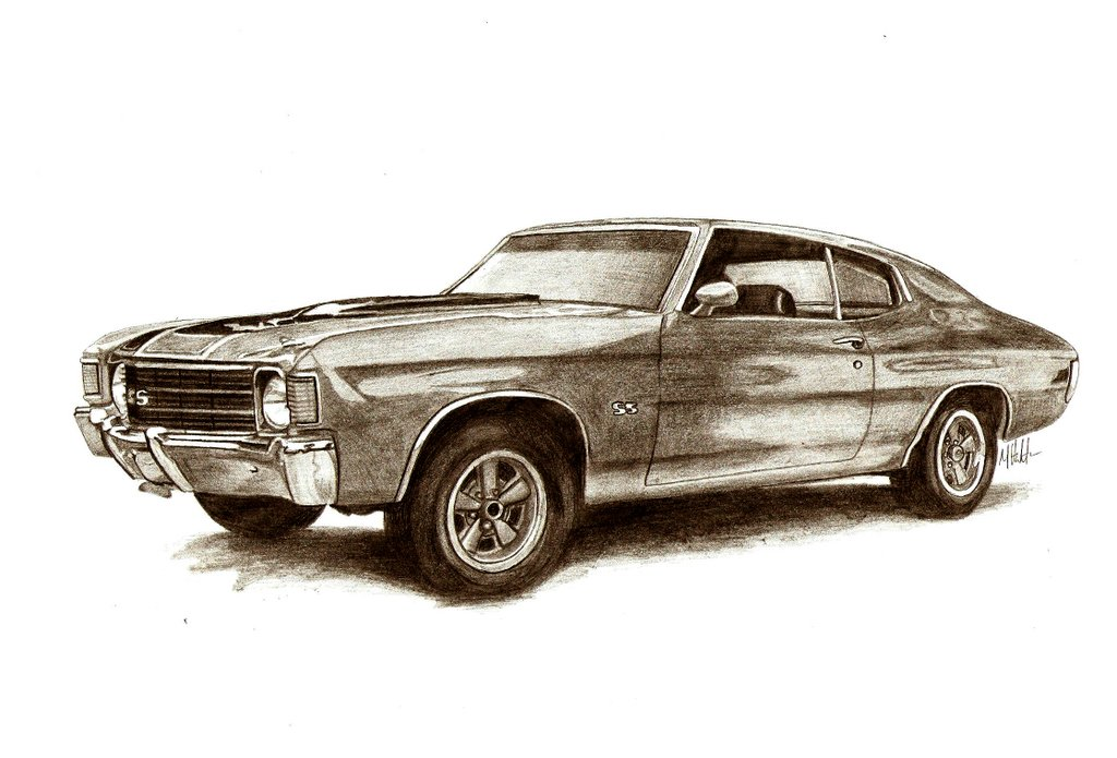 Muscle car sketches & Auto Art - Team-BHP