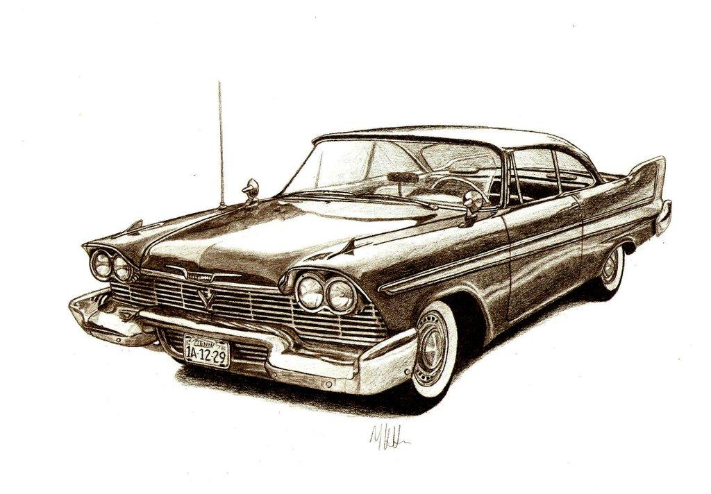 Muscle Car Sketches Auto Art Team Bhp
