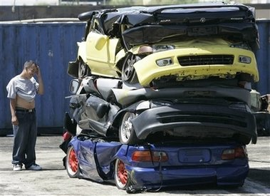 My God They Crushed Cars To Curb Street Racing Team Bhp