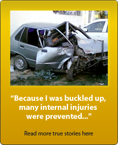 Seatbelts save lives. Samridh's story