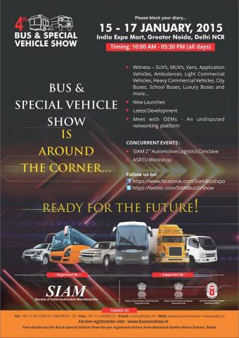 4th Bus and Special Vehicle Show: January 15 - 17, 2015